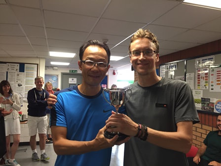 Shingo and Oli, club men's doubles champions 2017